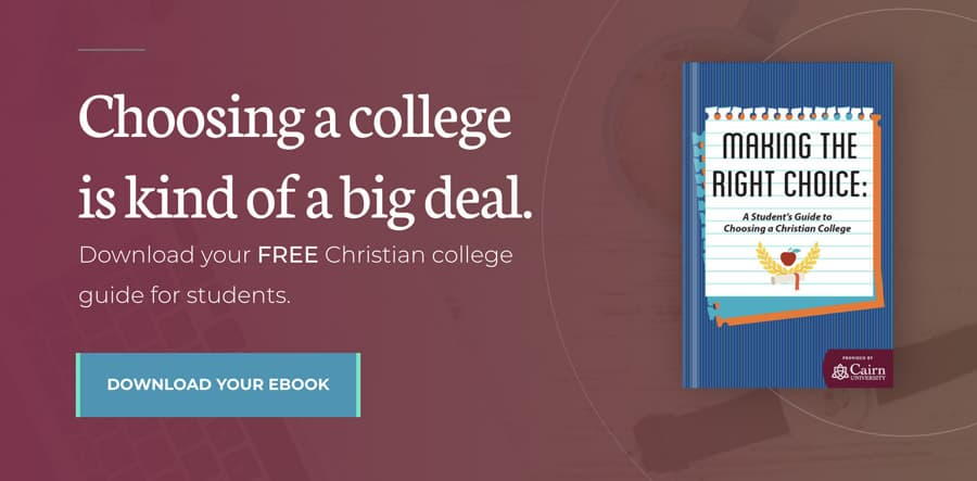 Download a free Christian college guide for students